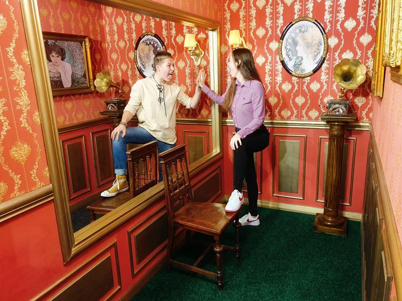 Muzeum fantastických iluzí - zrcadlová místnost