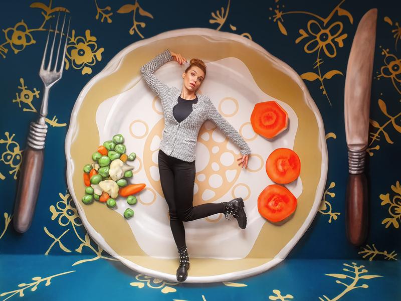 Muzeum fantastických iluzí - snídaňový talíř